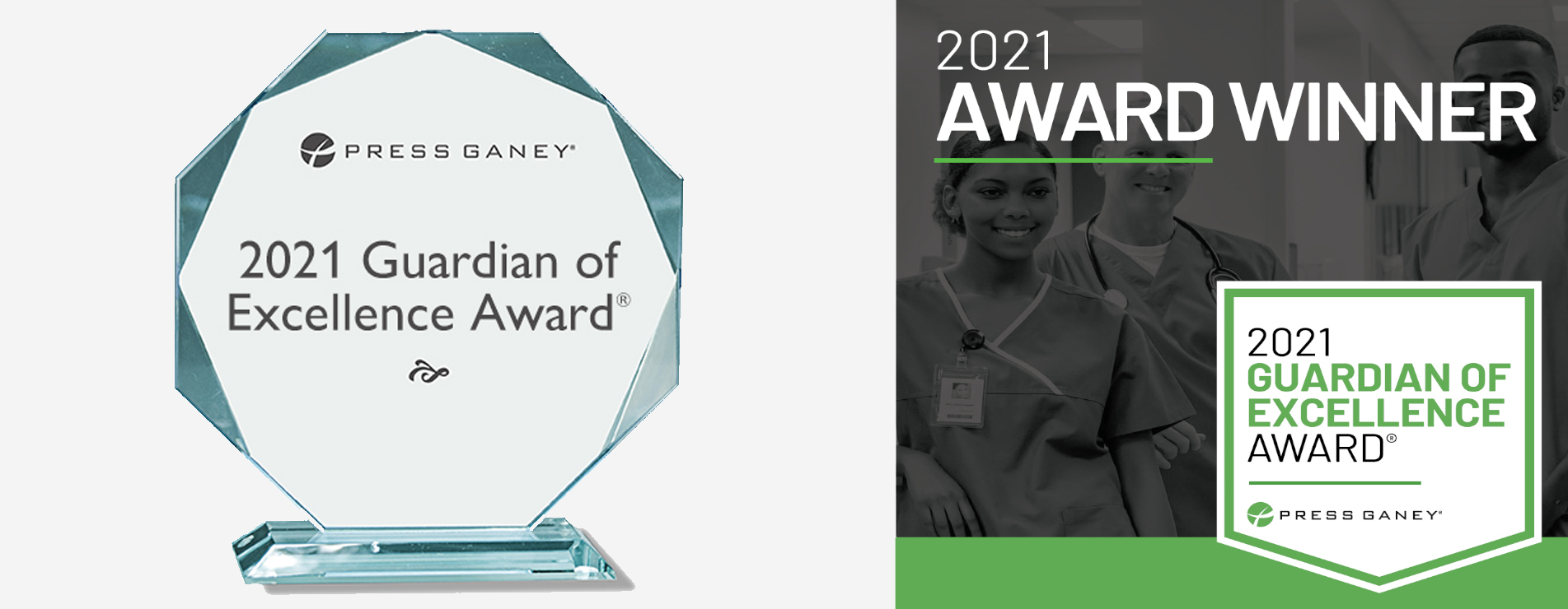 Press Ganey 2021 Guardian of Excellence Award